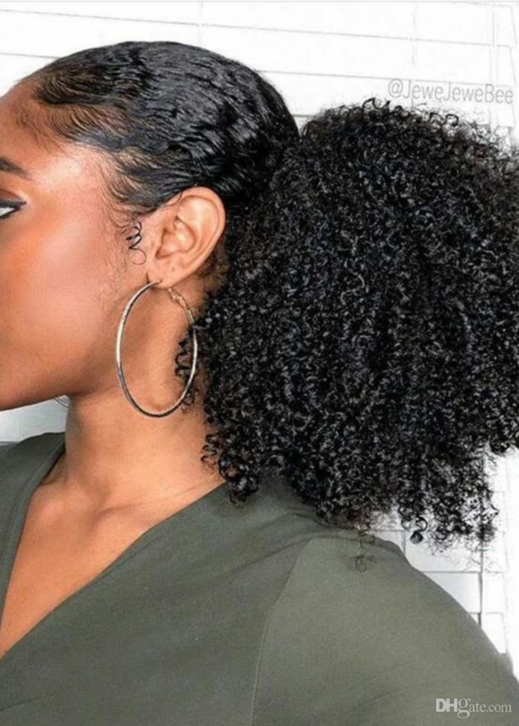 Ponytail Afro Kinky Curly