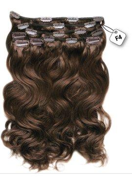 Clip in Extensions (Body Wave), kleur # F4 Dark Chestnut Brown