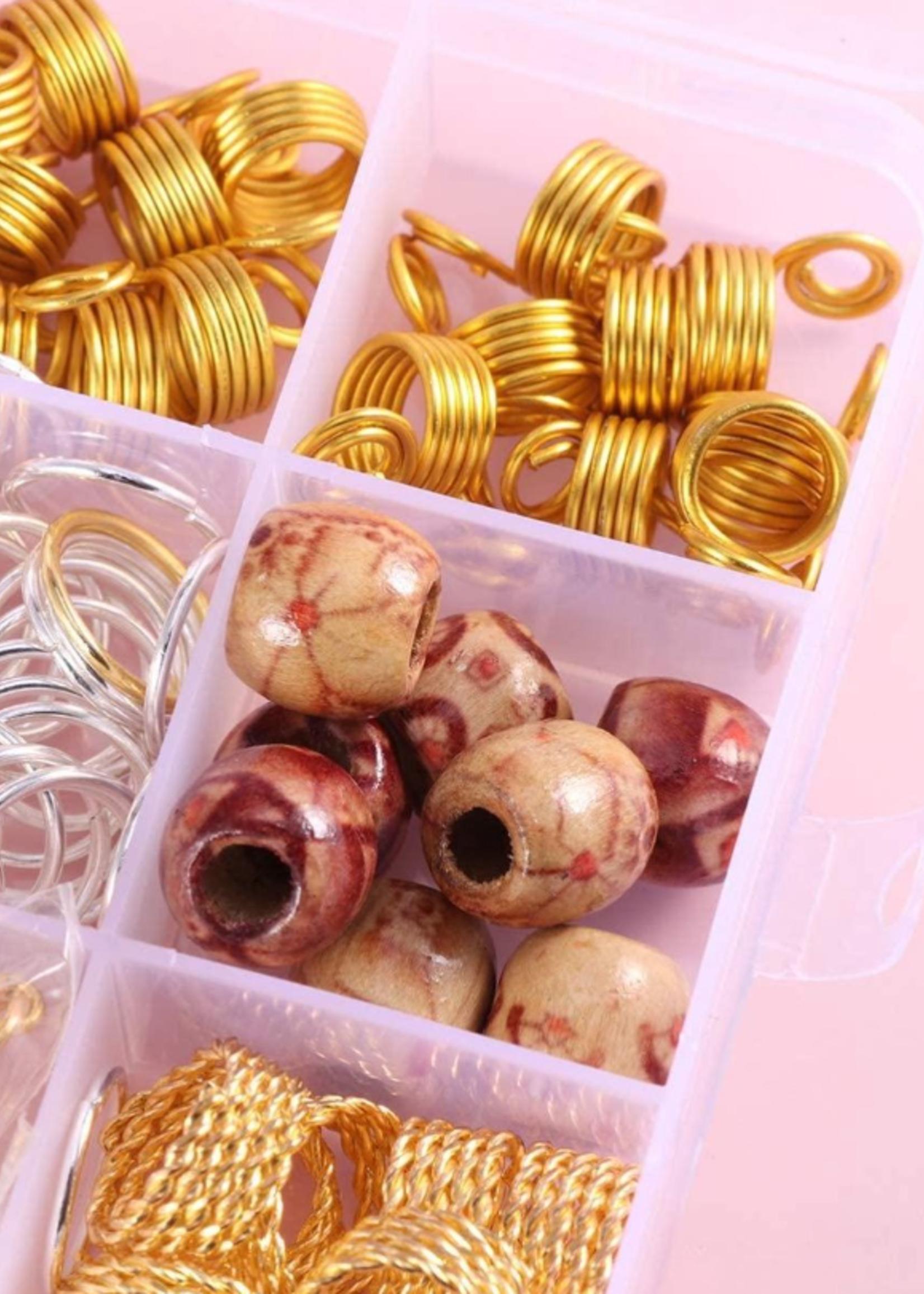 Haarkralen box /Hair beads box