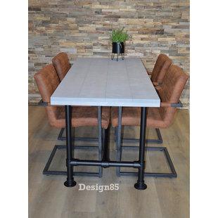Steigerbuis tafel Zwart