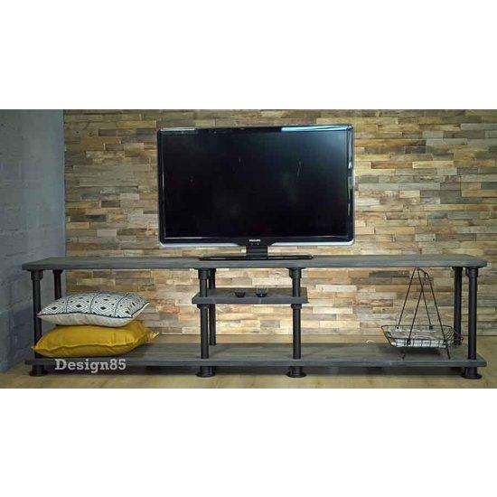 Zwart Bruine Tv Kast.Industrieel Tv Meubel Stijlvol Online Kopen Design85