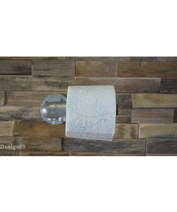 Steigerbuis toiletrolhouder wand
