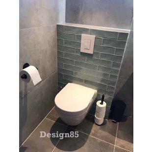 Steigerbuis toiletrol staander zwart