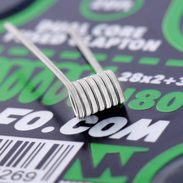Wotofo Wotofo Dual Core Fused Clapton 28x2+38 N80 20ft Spool