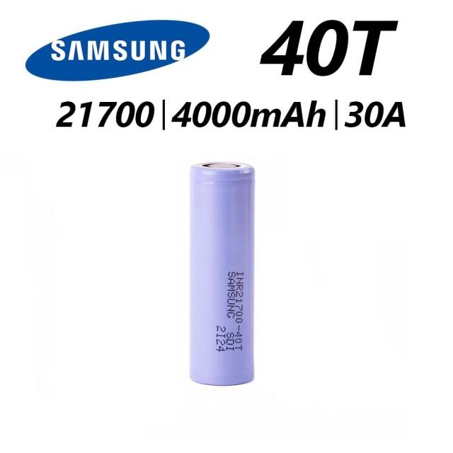Samsung Samsung 40T INR 21700 High Drain Li-Ion Battery - 30A