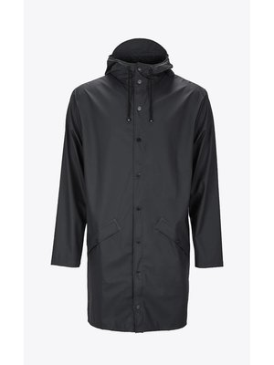 Rains Long Jacket Noir