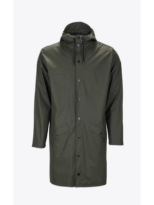 Rains Long Jacket Green Impermeable