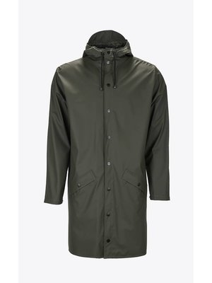 Rains Long Jacket Green Raincoat