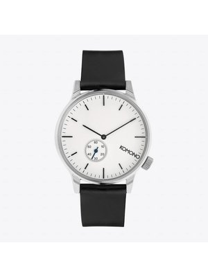 Komono Winston Subs Silver White Horloge