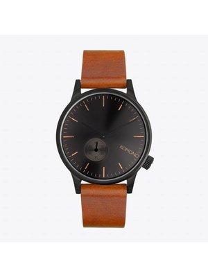 Komono Winston Subs Black Cognac Horloge
