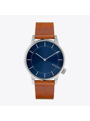Komono Winston Regal Blue Cognac Horloge