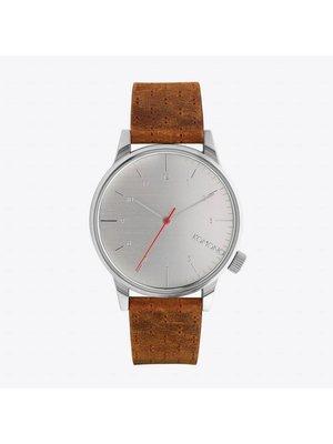 Komono Winston Walnut Horloge