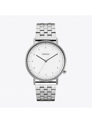 Komono Lewis Estate Silver Horloge
