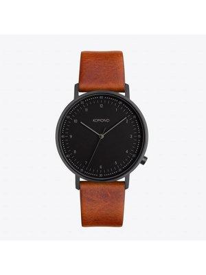 Komono Lewis Cognac Horloge