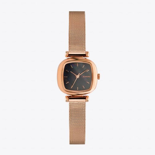 Komono Moneypenny Royale Rose Gold Black