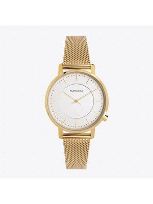 Komono Harlow Gold Mesh Horloge