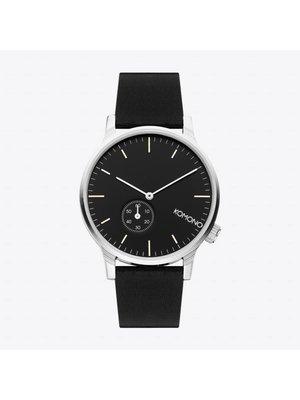 Komono Winston Subs Black Silver Horloge