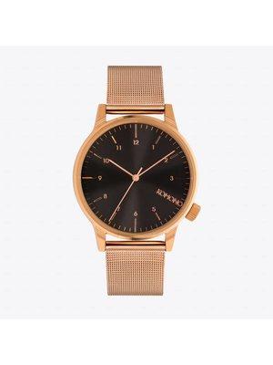 Komono Winston Royale Rose Gold Black Horloge