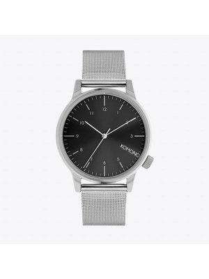 Komono Winston Royale Silver Black Horloge