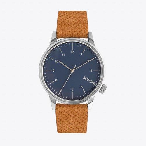 Komono Winston Blue Cognac Watch