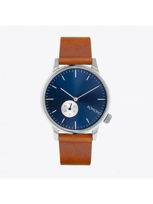 Komono Winston Subs Blue Cognac Horloge