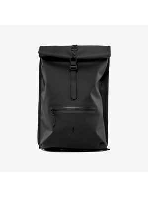 Rains Roll-top Rucksack Black
