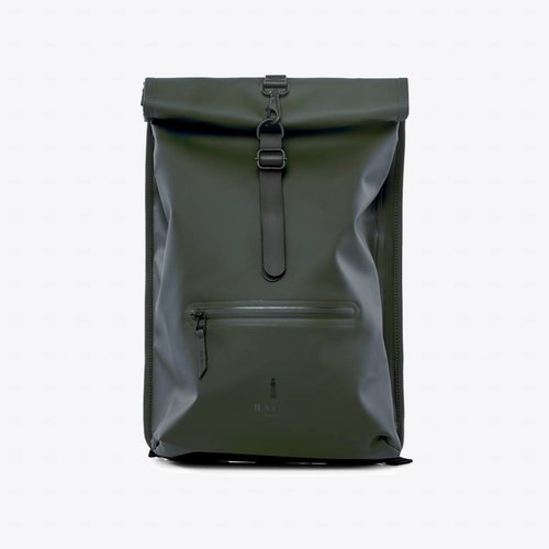 Rains Roll-top Rucksack Green