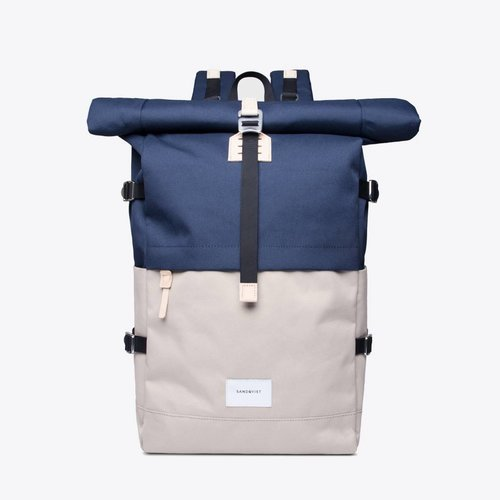 Sandqvist Bernt Backpack Beige/Navy