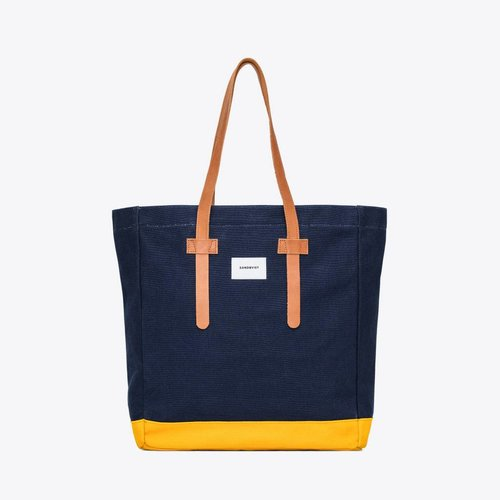 Sandqvist Stig Tote Bag Blue/Yellow
