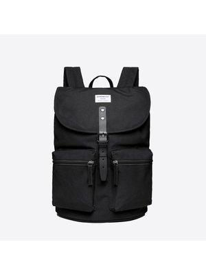 Sandqvist Roald Black Backpack