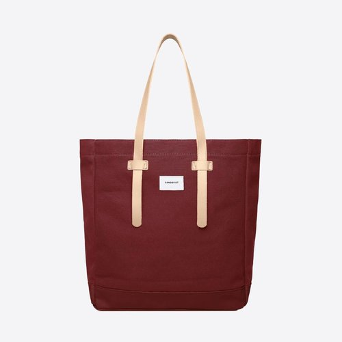 Sandqvist Stig Tote Bag Bordeaux