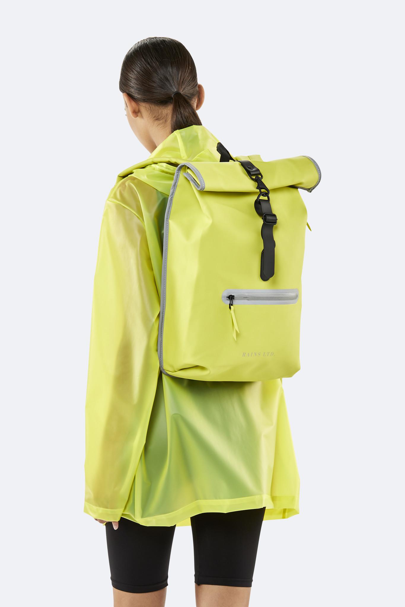 pretty nice where to buy ever popular Rains Roll-top Rucksack 1707 LTD Neon Yellow
