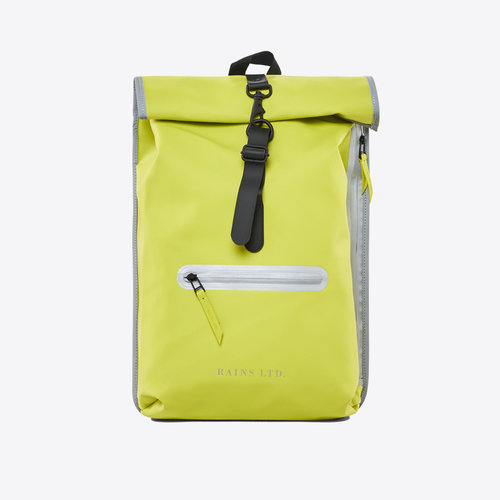Rains Roll-top Rucksack LTD Neon Yellow