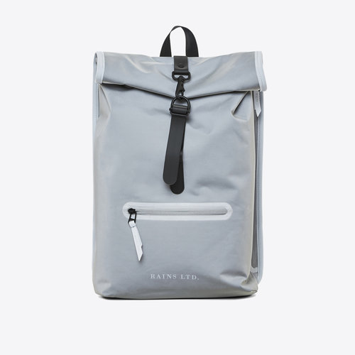 Rains Roll-top Rucksack LTD Reflective Grey