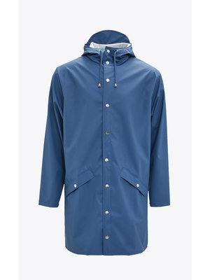 Rains Long Jacket Faded Blue