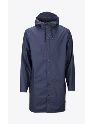 Rains Long Jacket Blue Impermeable