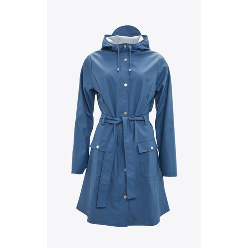 Rains Curve Jacket Faded Blue