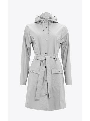 Rains Curve Jacket Stone Raincoat