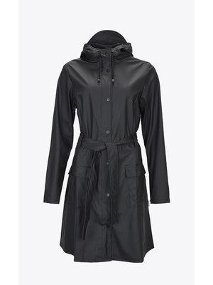 Rains Curve Jacket Black Raincoat