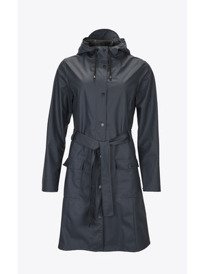 Rains Curve Jacket Bleu
