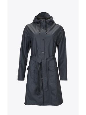 Rains Curve Jacket Blue Raincoat