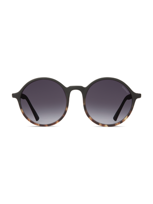Komono Madison Matte Black Tortoise Sunglasses