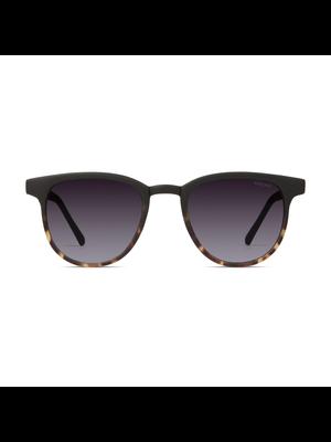 Komono Francis Matte Black Tortoise Sunglasses