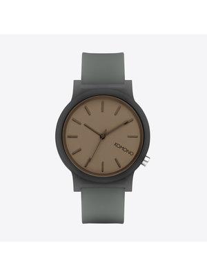 Komono Mono Charcoal Glow Horloge