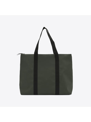 Rains City Tote Green  Shoulder Bag