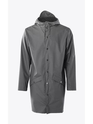Rains Long Jacket Charcoal Regenjas