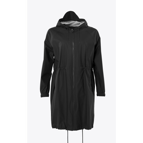 Rains Long W Jacket Black
