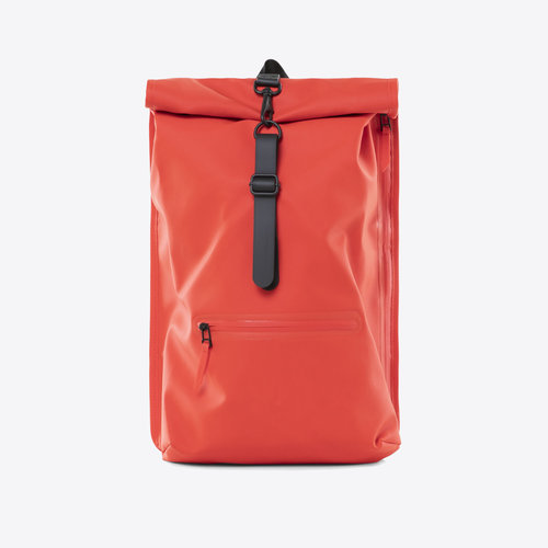 Rains Roll-top Rucksack Red
