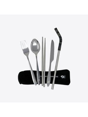 Mizu Cutlery Set Bestekset met RVS rietje