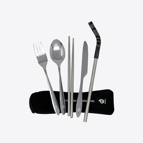 Mizu Cutlery Set with Straw